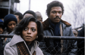 Source: Pinterest | Tracy Chambers (Diana Ross) & Brian Walker (Billy Dee Williams) in Mahogany (1975)