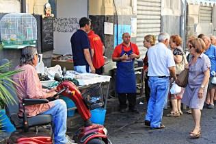 market scene Acireale Sicily