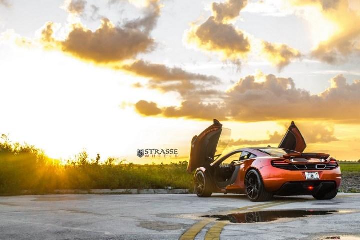 Strasse Wheels - Volcano Orange McLaren MP4-12C - SM5R Deep Concave Monoblock Wheels