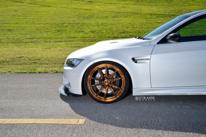 Strasse Wheels - Mineral White BMW E92 M3 - SV5 Deep Concave Monoblock 15