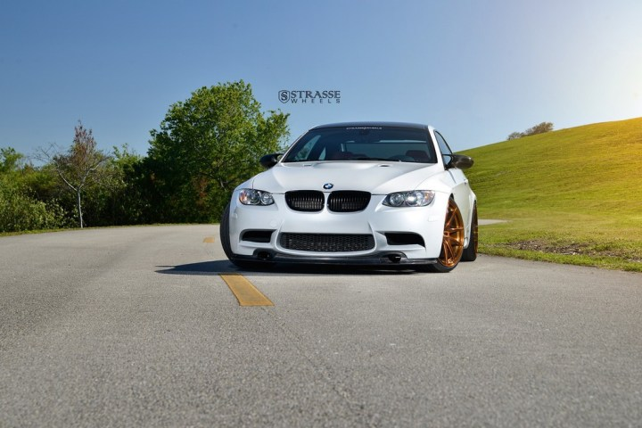 Strasse Wheels - Mineral White BMW E92 M3 - SV5 Deep Concave Monoblock 2