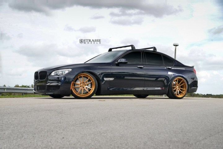 "Strasse Wheels - BMW F01 750 - Gloss Brushed Bronze 21"" SV1 Deep Concave FS Wheels 1"