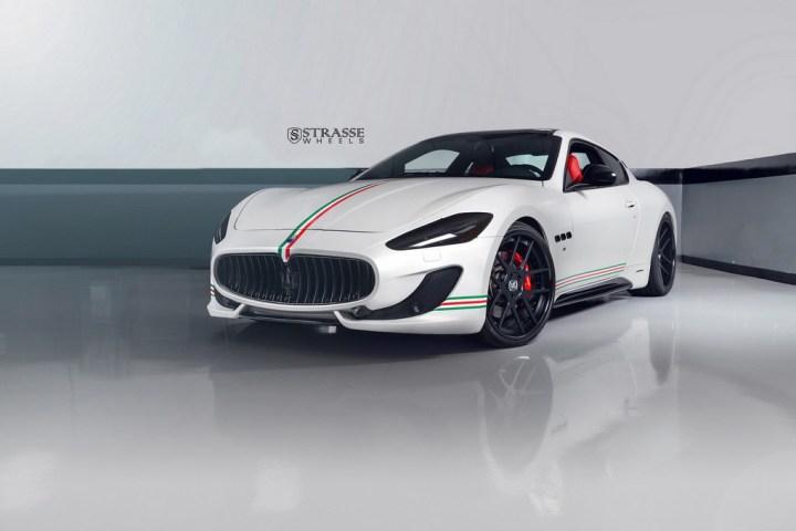 Strasse Wheels Matte White Maserati Gran Turismo 1