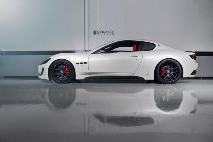 Strasse Wheels Matte White Maserati Gran Turismo 9