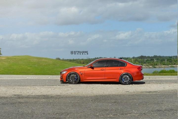 Strasse Wheels Sakhir Orange BMW M3 8