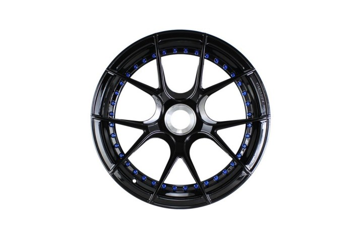 SM5R Deep Concave Duoblock - Gloss Black & Blue HW 1