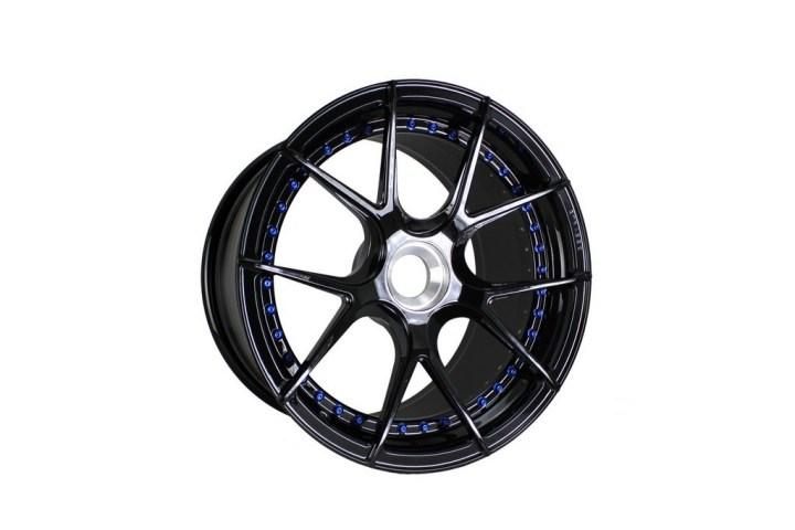 SM5R Deep Concave Duoblock - Gloss Black & Blue HW 2