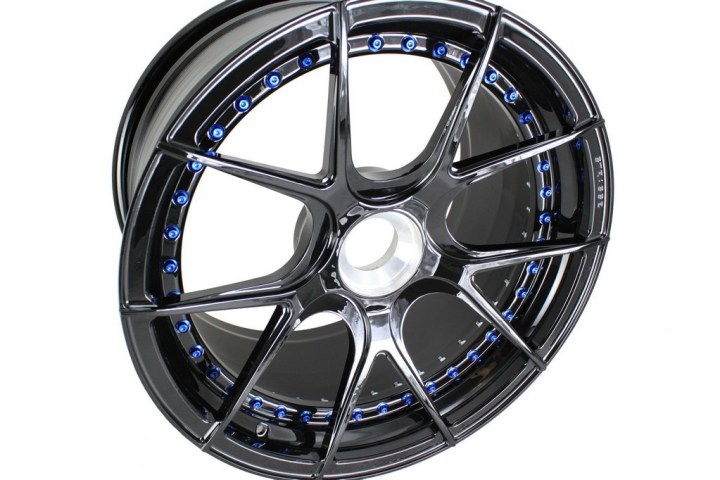 SM5R Deep Concave Duoblock - Gloss Black & Blue HW 3