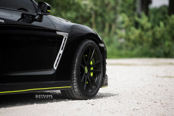 Nissan GT-R - SV1 Deep Concave Monoblock - Satin Black 13