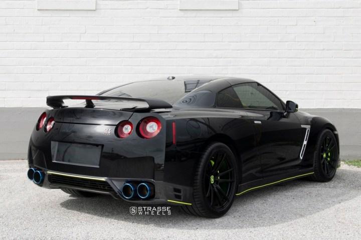 Nissan GT-R - SV1 Deep Concave Monoblock - Satin Black 16 2