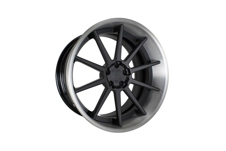 R10 Deep Concave - Satin Black & Gloss Brushed Titanium 3