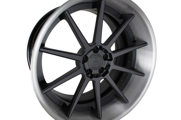 R10 Deep Concave - Satin Black & Gloss Brushed Titanium 4