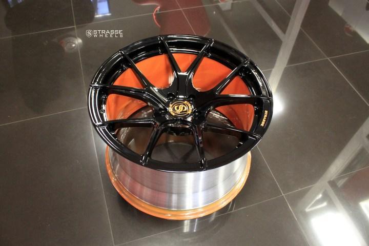SM5R Deep Concave Monoblock - Gloss Black & Arancio Borealis Barrel 11