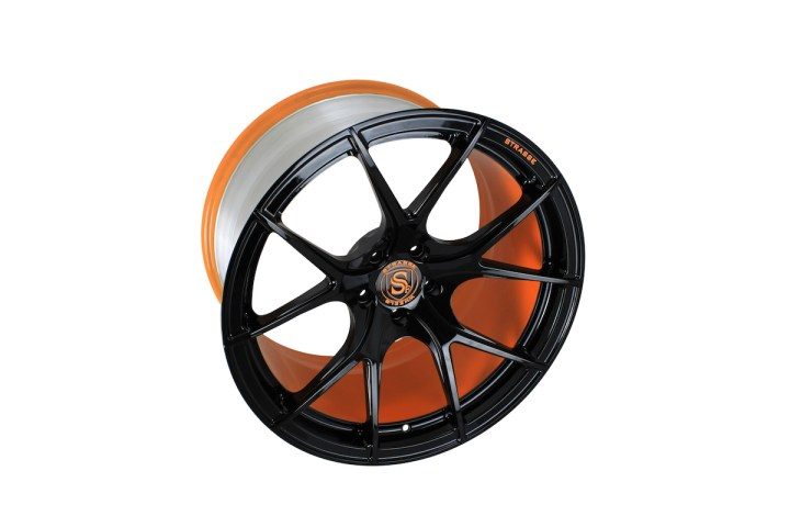 SM5R Deep Concave Monoblock - Gloss Black & Arancio Borealis Barrel 4