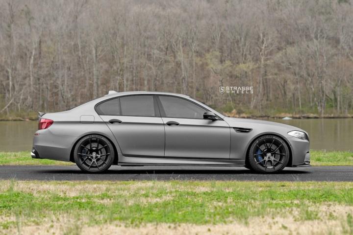 BMW F10 M5 - SM5R Deep Concave Monoblock - Gloss Black 9