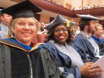 Recent (2012) Rice PhD graduate Chandra Jack on the right and Joan Strassmann on the left at graduation.