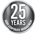 Badge for 25 Years Body Corporate Management
