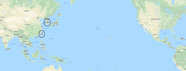 A map of the Pacific
