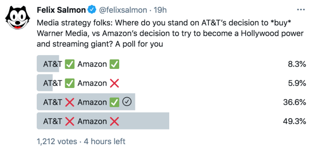 I voted that AT&T was being stupid and Amazon was being smart