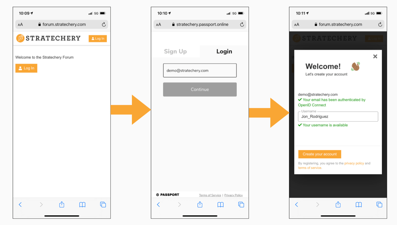 Single sign-on with Passport