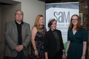 SAM staff and board members smiling