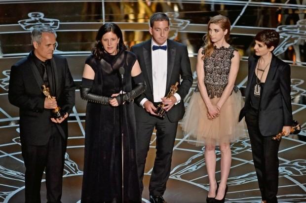 CitizenFour team accepts Academy Award