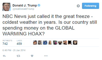 Global Warming Hoax, per DT