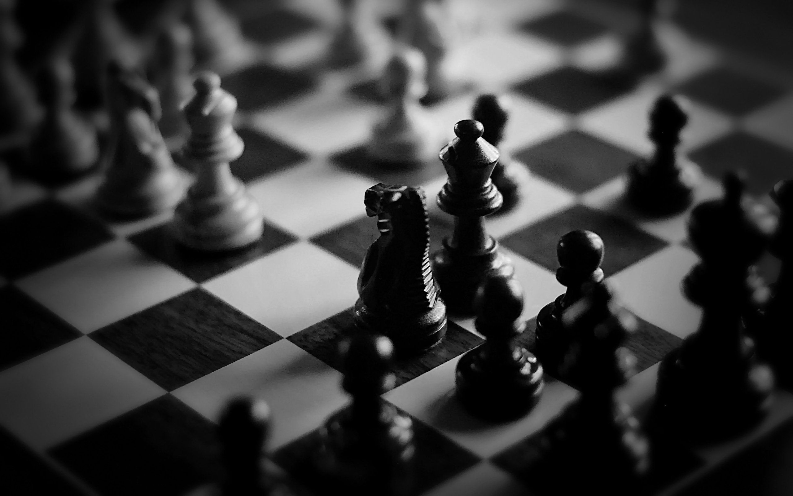 chess wallpaper black and white
