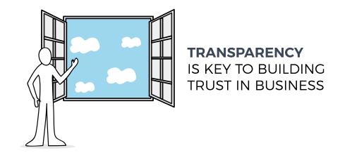 Transparency builds trust