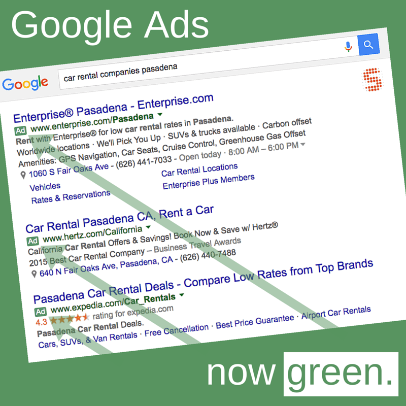 Google Ads Now Green