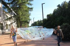 Strategic Optimism Football Joining the Psychic Workers Occupation of G4S Offices, Alytus, Lithuania, Aug 15