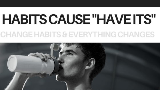 athlete who is trying to change habits by drinking more water