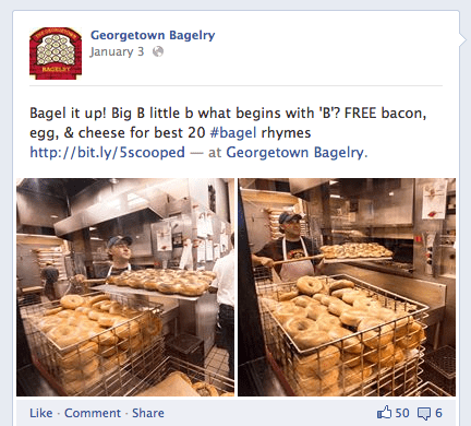 georgetown bagelry Facebook post