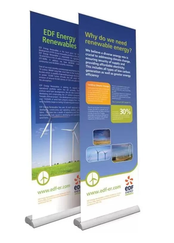 Roller Banner for Energy Company