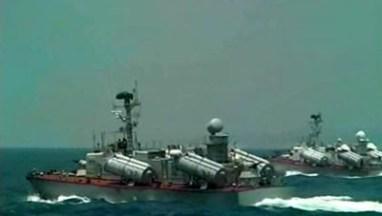 Vieilles vedettes lance-missiles de la marine syrienne lors d'un exercice en jullet 2012