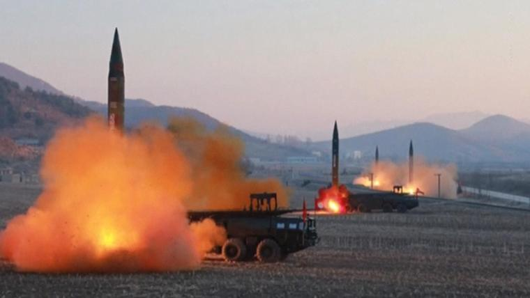 DPRK Resumes Missiles Tests (Multiple Short Range Projectiles off Eastern Coast) 1