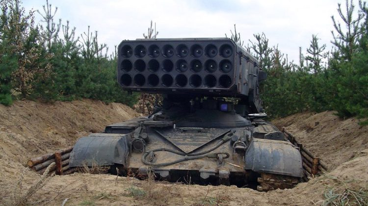 Lance-roquettes thermobariques TOS-1 Buratino 220 mm 2