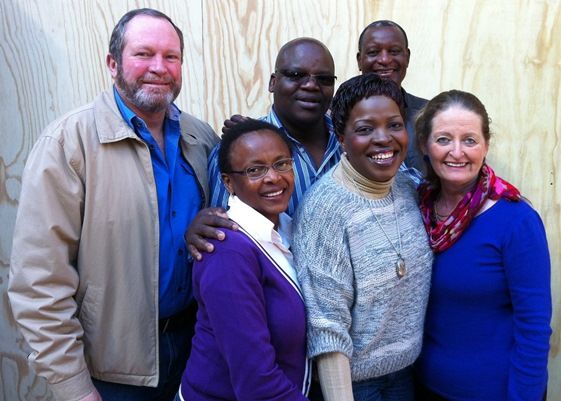 Brenda with the 2013 'pod' she mentored for the UCT Centre for Coaching.