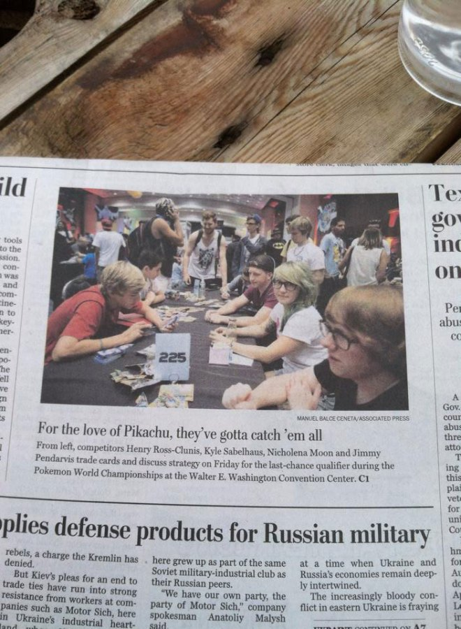Front Page of Washington Post