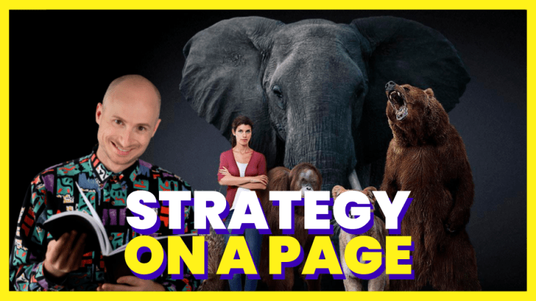 Strategy on a page