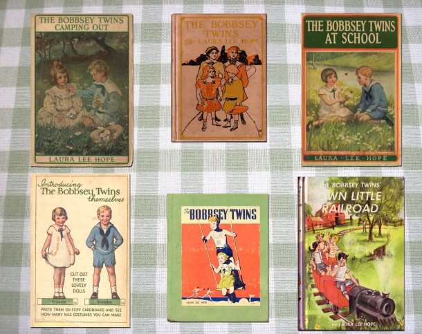 Sample covers from the Bobbsey Twins series.