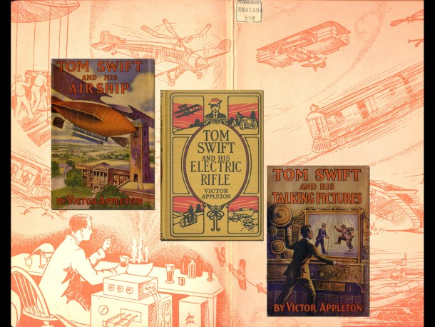 Sample covers from the Tom Swift series.