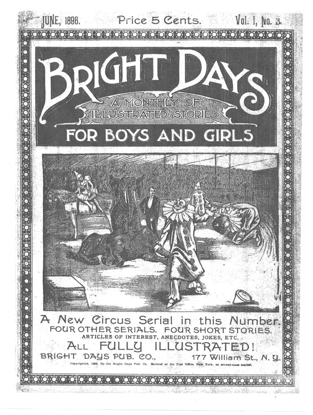 Cover of issue 3 of Bright Days.