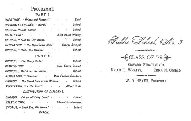Program at Edward Stratemeyer's graduation