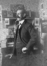 Edward Stratemeyer with his books