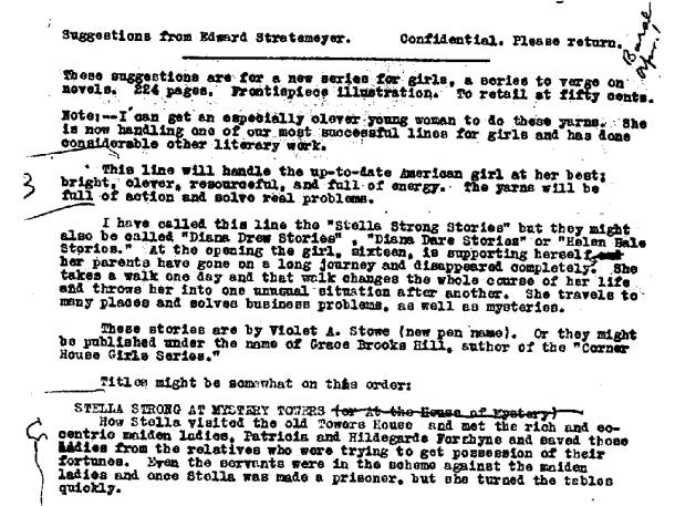 Stella Strong proposal before Nancy Drew
