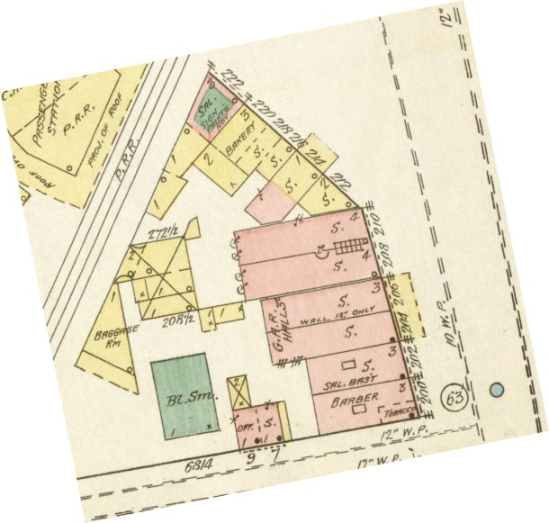 Elizabeth New Jersey 1889 location of cigar store and Red Ribbon Club