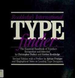 Cover of Rookledge's International Typefinder (1991).