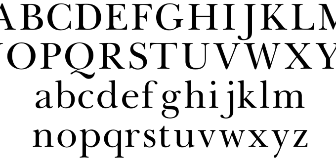Baskerville typeface used on Nancy Drew and other series books starting in the 1940s.