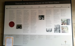 The timeline of The Guild Chapel, Stratford-upon-Avon ©Stratfordblog.com